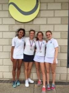 U15 girls tennis
